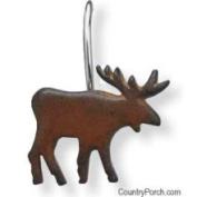 Park Designs Burl Moose Shower Curtain Hooks