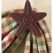 Park Designs Cast Star Curtain Hooks, Red, Includes 5.1cm Set