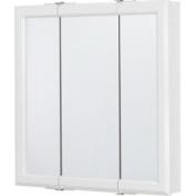 Tri-View Mirror 24 Medicine Cabinet In Wht Med Cab