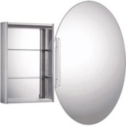 Whitehaus WHOLI Oval Double Faced Mirrored Door Medicine Cabinet