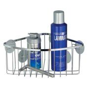 InterDesign 69102 Suction Shower Corner Basket - Stainless Steel