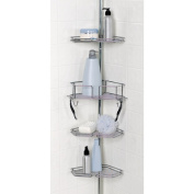Zenith Products 2190SS 4 Tier Chrome Twist Tight Pole Shower Caddy