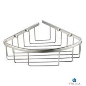 Fresca Single Corner Bathroom Wire Basket - Brushed Nickel - FAC1002BN