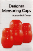 Designer Measuring Cups Red