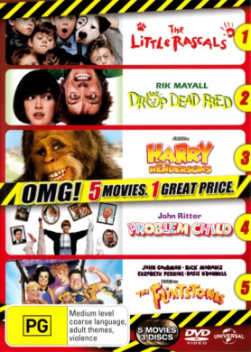 The Little Rascals / Drop Dead Fred / Harry and the Hendersons / Problem Child / The Flintstones (3 Discs)