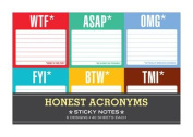 Knock Knock Honest Acronyms Sticky Note Packet