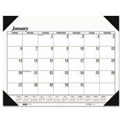 One-Color Refillable Monthly Desk Pad Calendar, 22 x 17, 2013 [22]