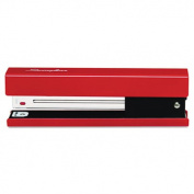 Full Strip Fashion Staplers, 20-Sheet Capacity, Red/Black