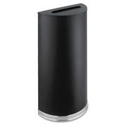 Safco 9940BL Half-Round Receptacle Half-Round Steel 12 .5 gal Black
