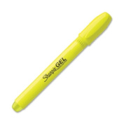 Sharpie 1780478 Gel Highlighter Bullet Tip Fluorescent Yellow 12-Pk