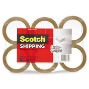 """3350 General Purpose Packaging Tape, 2.83"""" x 54.6yds, Clear, 6/Pack"""