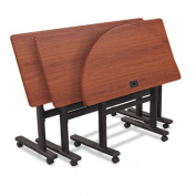Balt Height-Adjustable Flipper Training Tabletops, 180cm H x 60cm W x 2.5cm D, Cherry