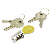 Alera Key-Alike Lock Core Set, Brushed Chrome