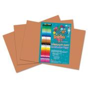 Heavyweight Construction Paper, 58 lbs., 12 x 18, Light Brown, 50 Sheets/Pack