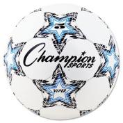 Champion Sports VIPER3 VIPER Soccer Ball Size 3 White