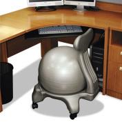 FitPro Ball Chair, 50 cm, PVC, Gray