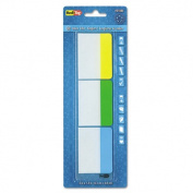 Redi-Tag 31080 Write-On Self-Stick Index Tabs-Flags 1.5 x 2 Blue Green Yellow 30-Pack