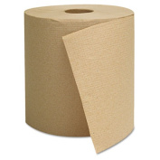 Hardwound Towels, Brown, 1-Ply, Brown, 800ft, 6 Rolls/Carton