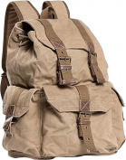 Large Washed Canvas Backpack