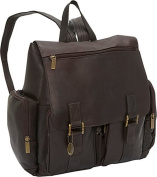 David King& Co 327C Laptop Backpack with 2 Front Pockets- Cafe