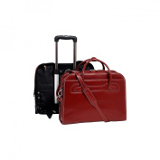 Mcklein USA 94986 Willowbrook W Series Leather Detachable-Wheeled Ladies Case - Red