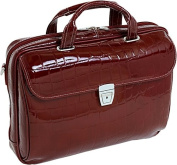 Siamod 35516 Ignoto Red Leather Large Ladies Laptop Brief