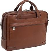 McKlien 15494 Montclare 15494S- Brown Leather Small Laptop Brief