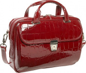 Siamod 35536 Servano Red Leather Small Ladies Laptop Brief