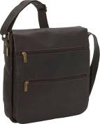 David King & Co 167C Laptop Messenger Bag with 2 Zip Pockets- Cafe
