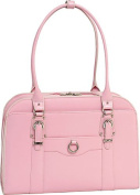 McKlien 96529 Hillside 96529- Pink Leather Ladies Briefcase