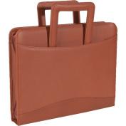 Royce Leather Zip Around Binder Portfolio - Top Grain Nappa Cowhide - Tan