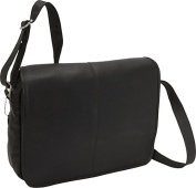 David King & Co 161B Flap Over Messenger with Back Trolley- Black