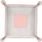 Royce Leather 920-CPGS-5 Catchall - Carnation Pink With Grey Suede