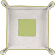 Royce Leather 920-KLGGS-5 Catchall - Key Lime Green With Grey Suede