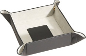 Royce Leather 920-BLGS-11 Catchall - Black With Grey Suede