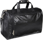 18-inch Leather Carry on Weekend Duffel