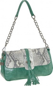 Buxton FDL11022.GR.BX Jasmine Collection Leather Shoulder Bag - Green