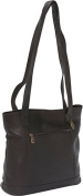 David King& Co 1065C Shopper with Front Zip Pocket& Magnetic Close- Cafe