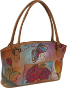 ANNA by Anuschka Wide Tote - Rose Butterfly