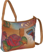 ANNA by Anuschka Small Shoulder Bag - Rose Butterfly