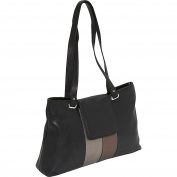 Metallic Trim Shoulder Bag