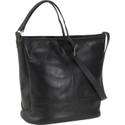 North/South Double Compartment Bucket Bag