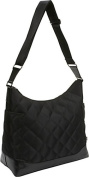 Black Quilted Hobo