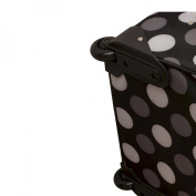 "Rockland 19"" Rolling Carry On with Tote - New Black Dot"