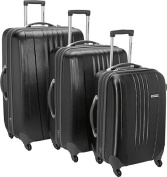 Travelers Choice TC3300K 3-Piece Toronto Hardside Spinner Luggage in Black