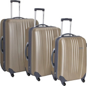 Travelers Choice TC3300Y 3-Piece Toronto Hardside Spinner Luggage in Gold