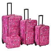 Rockland Nairobi 4-pc Expandable Luggage Set - Pink Pearl
