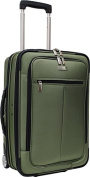Travelers Choice TC0424E 21 in. Siena Hybrid Hard-Shell Rolling Garment Bag- Upright in Forest Green
