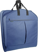 WallyBags 854Navy 40 in. Garment Bag with Pockets