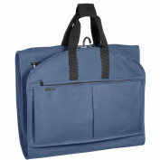 WallyBags 550Navy 52 in. GarmenTote Tri-Fold with Pockets
